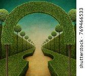 conceptual fantasy green... | Shutterstock . vector #769466533