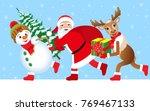 christmas vector illustration.... | Shutterstock .eps vector #769467133