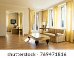 living room with lake view and... | Shutterstock . vector #769471816
