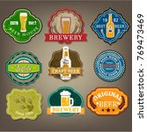 beer labels collection various... | Shutterstock .eps vector #769473469