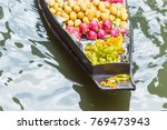front of a wooden boat head... | Shutterstock . vector #769473943