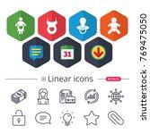 calendar  speech bubble and...   Shutterstock .eps vector #769475050