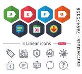 calendar  speech bubble and...   Shutterstock .eps vector #769475158