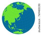 world map illustration  globe   ... | Shutterstock .eps vector #769483150