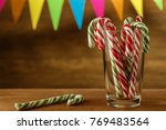 candy cane in . christmas... | Shutterstock . vector #769483564
