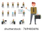 icon of successful businessman... | Shutterstock .eps vector #769483696