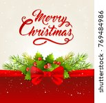 vector christmas background... | Shutterstock .eps vector #769484986