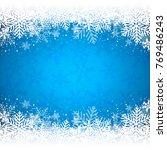 decorative blue christmas... | Shutterstock .eps vector #769486243
