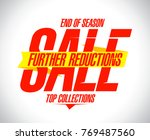 further reductions sale design... | Shutterstock .eps vector #769487560