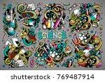 vector hand drawn doodle... | Shutterstock .eps vector #769487914