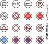 line vector icon set   airport... | Shutterstock .eps vector #769488670