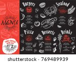 restaurant cafe menu  template... | Shutterstock .eps vector #769489939