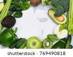 fresh green fruits and...   Shutterstock . vector #769490818