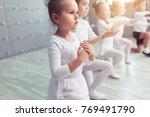 group of four little ballerinas