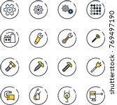line vector icon set   heart... | Shutterstock .eps vector #769497190