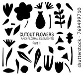 cutout flowers and floral... | Shutterstock .eps vector #769499710