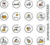 line vector icon set   passport ... | Shutterstock .eps vector #769501300