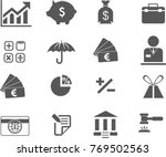 black and white icons | Shutterstock .eps vector #769502563