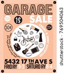 garage or yard sale with signs  ... | Shutterstock .eps vector #769504063