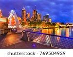 melbourne city waterfront... | Shutterstock . vector #769504939
