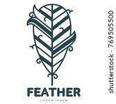 bird feather logo template.... | Shutterstock .eps vector #769505500