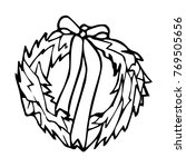 christmas wreath vector... | Shutterstock .eps vector #769505656