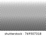 abstract monochrome halftone... | Shutterstock .eps vector #769507318