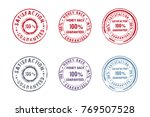 set of 6 round old stamps | Shutterstock .eps vector #769507528
