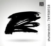 black brush stroke and texture. ... | Shutterstock .eps vector #769508518