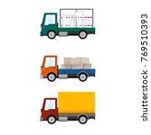 set of cargo trucks  car... | Shutterstock .eps vector #769510393