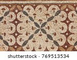 ancient authentic marble mosaic ... | Shutterstock . vector #769513534