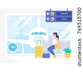airport passenger terminal and... | Shutterstock .eps vector #769515700