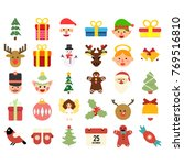 christmas icons set | Shutterstock .eps vector #769516810