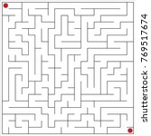 vector image of a maze. | Shutterstock .eps vector #769517674