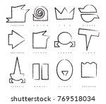 vector set of twelve signs of