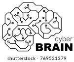 vector printed circuit board... | Shutterstock .eps vector #769521379