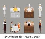 restaurant team illustration.... | Shutterstock . vector #769521484