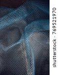 texture of burlap. blue grid.... | Shutterstock . vector #769521970