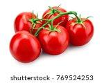 tomato. tomato branch. tomatoes ... | Shutterstock . vector #769524253