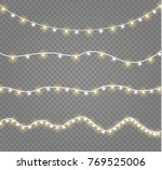 christmas lights isolated on... | Shutterstock .eps vector #769525006
