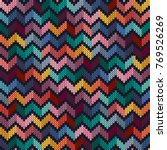 seamless multi colored knitted... | Shutterstock .eps vector #769526269