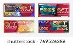 set of flyer  brochure design... | Shutterstock .eps vector #769526386