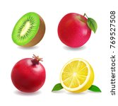 juice fruits icons realistic... | Shutterstock .eps vector #769527508