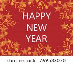 happy new year typographical on ... | Shutterstock .eps vector #769533070