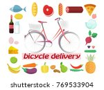 bicycle delivery of fruits
