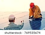 engineer working on checking... | Shutterstock . vector #769535674