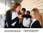 teenage girl being bullied at...   Shutterstock . vector #769538299