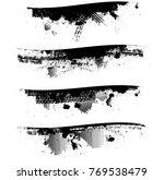 grunge paint stripe . vector... | Shutterstock .eps vector #769538479