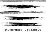 grunge paint stripe . vector... | Shutterstock .eps vector #769538503