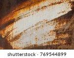 old rusty background. grunge...   Shutterstock . vector #769544899
